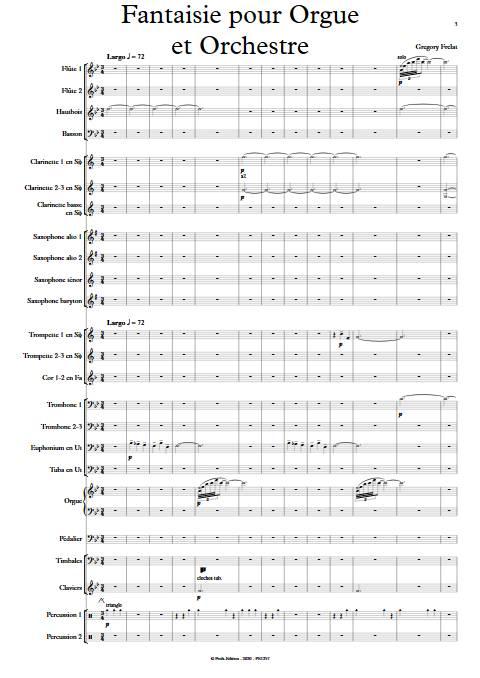 Fantaisie pour Orgue et Orchestre - Orgue et Orchestre - FRELAT G. - Partition