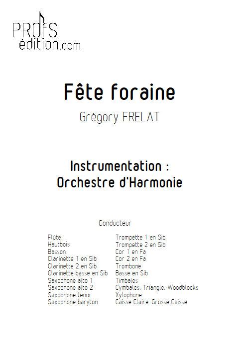 Fête Foraine - Orchestre d'Harmonie - FRELAT G. - page de garde