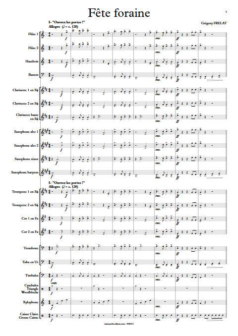 Fête Foraine - Orchestre d'Harmonie - FRELAT G. - Partition