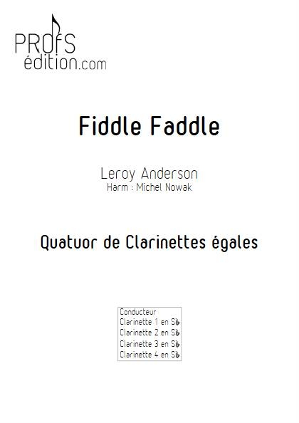 Fiddle Faddle - Quatuor de Clarinettes égales - ANDERSON L. - page de garde