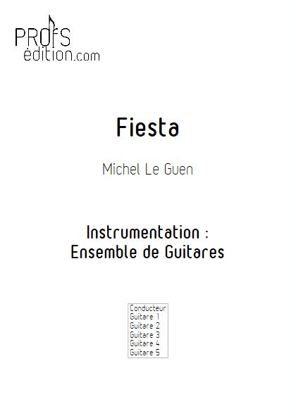 Fiesta - Ensemble de Guitares - LE GUEN M. - page de garde
