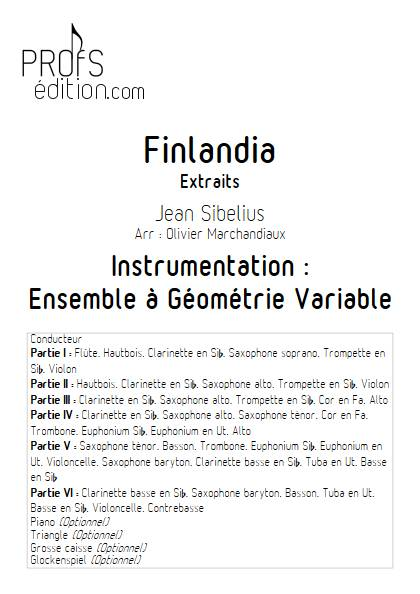 Finlandia - Ensemble Variable - SIBELIUS J. - page de garde