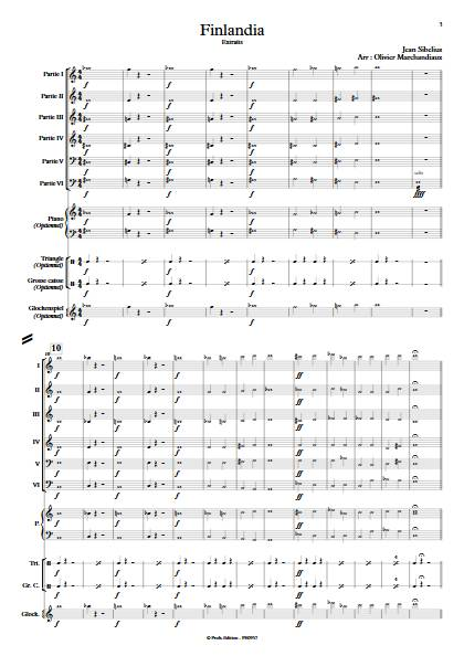 Finlandia - Ensemble Variable - SIBELIUS J. - Partition