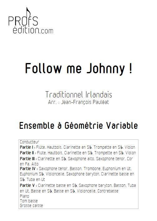 Follow me Johnny - Ensemble variable - TRADITIONNEL IRLANDAIS - page de garde
