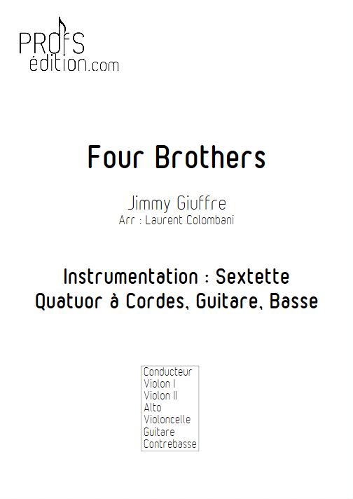 Four Brothers - Sextuor à Cordes - COLOMBANI L. - page de garde