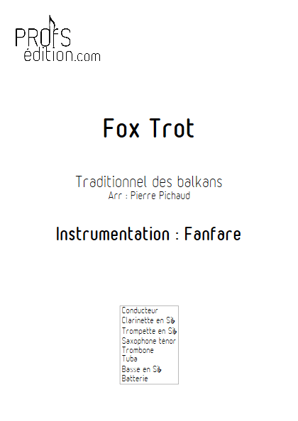 Fox Trot - Fanfare - TRADITIONNEL - page de garde