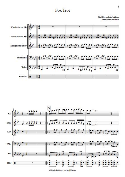 Fox Trot - Fanfare - TRADITIONNEL - Partition