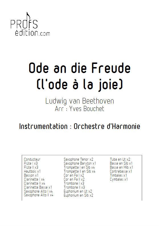L'hymne à la joie - Orchestre Harmonie - BEETHOVEN L. V. - page de garde