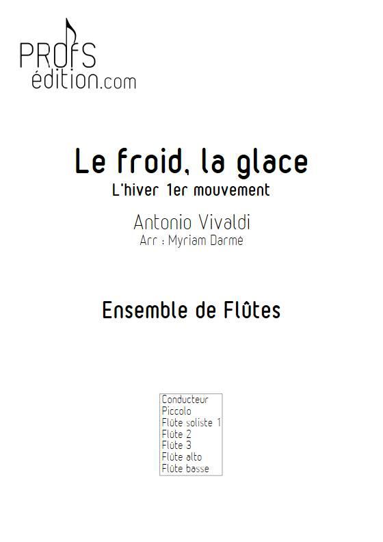 Froid et glace - Ensemble de Flûtes - VIVALDI A. - page de garde