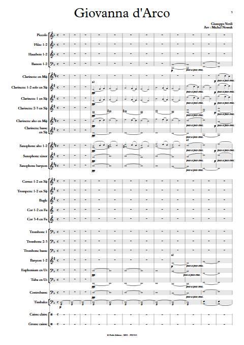 Giovanna d'Arco - Orchestre d'Harmonie - VERDI G. - app.scorescoreTitle
