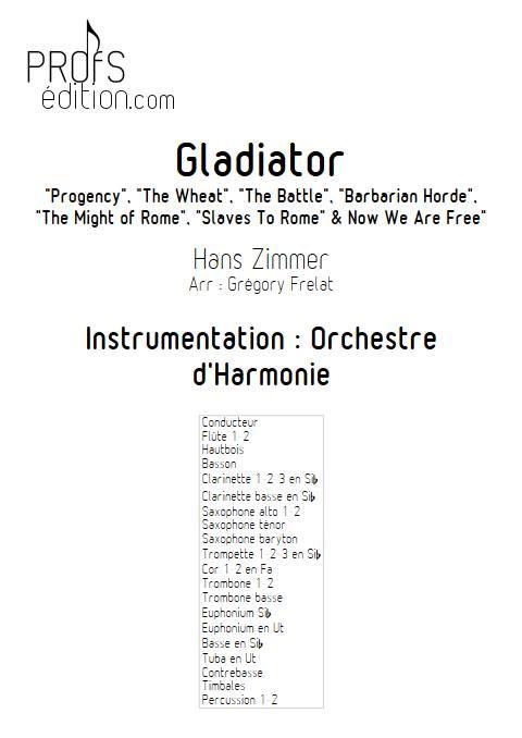 Gladiator - Orchestre d'Harmonie - ZIMMER H. - page de garde