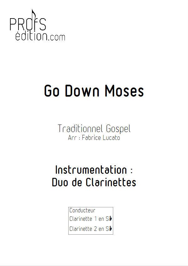 Go Down Moses - Duo de Clarinettes - TRADITIONNEL GOSPEL - page de garde