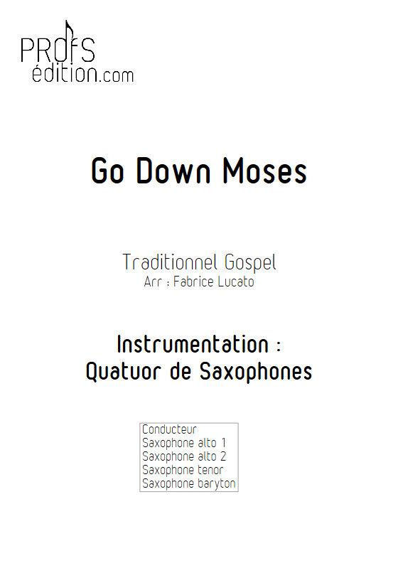 Go Down Moses - Quatuor de Saxophones - TRADITIONNEL GOSPEL - page de garde