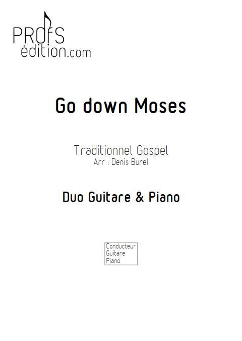 Go down Moses - Guitare & Piano - GOSPEL - page de garde