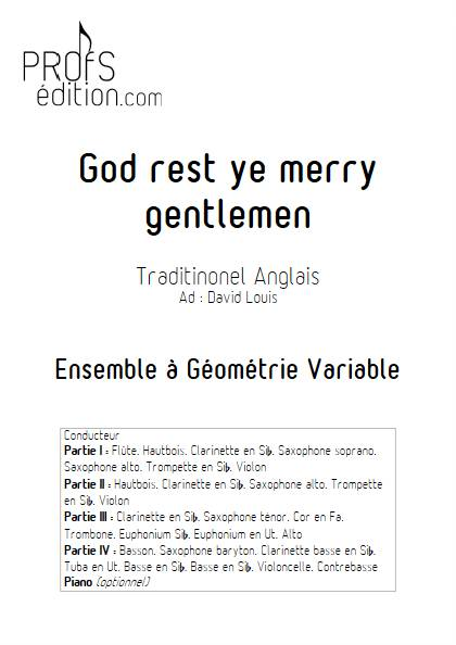 God rest ye merry gentlemen - Ensemble Variable - TRADITIONNEL ANGLAIS - page de garde