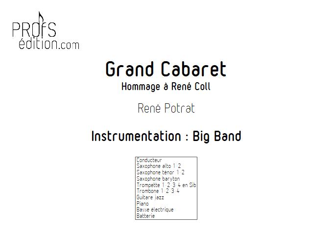 Grand Cabaret - Big Band - POTRAT R. - page de garde