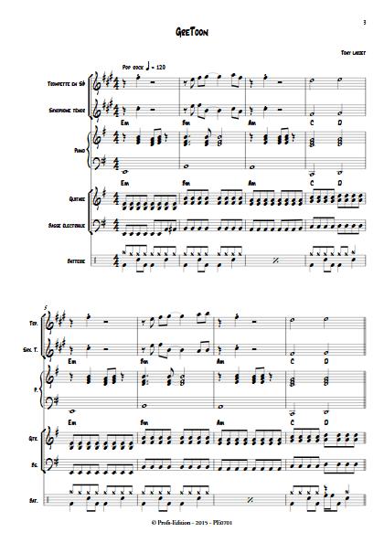 GreToon - Musique Actuelle - LARDET T. - Partition