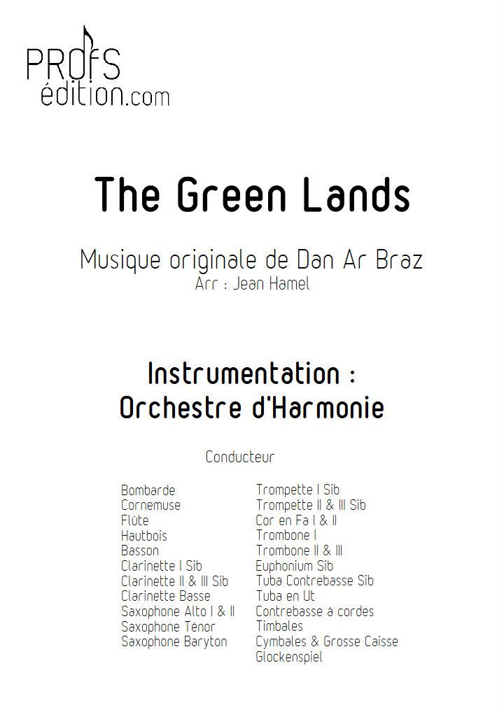 The Green Lands - Orchestre d'Harmonie - DAN AR BRAZ - page de garde