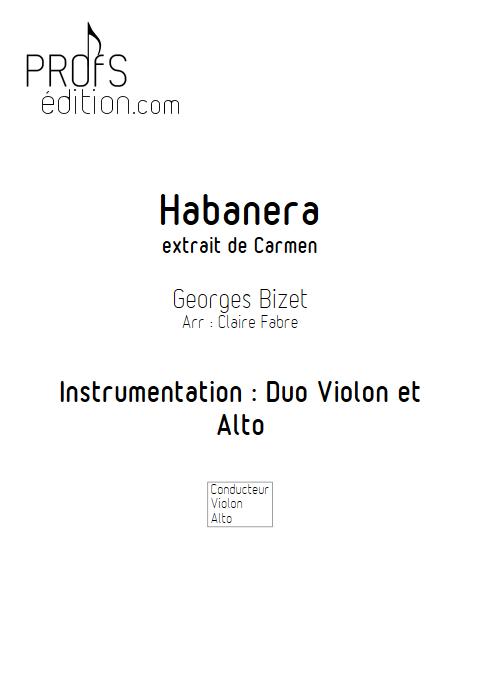 Habanera - Duo Violon et Alto - BIZET G. - page de garde