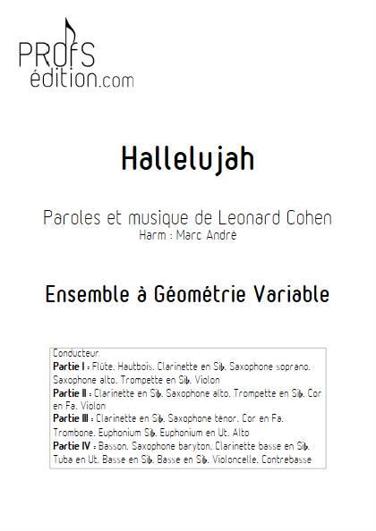 Hallelujah - Ensemble Variable - COHEN L. - page de garde