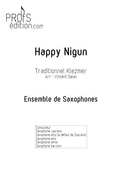 Happy Nigun - Ensemble de Saxophones - TRADITIONNEL KLEZMER - page de garde