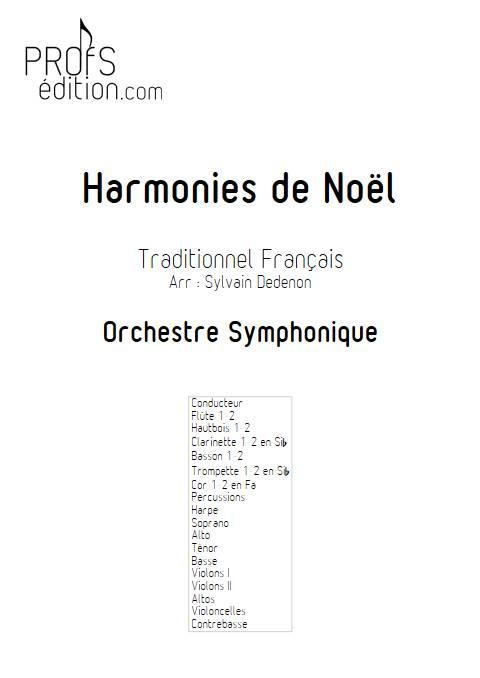 Harmonies de Noël - Chœur mixte & Orchestre symphonique - TRADITIONNEL FRANCAIS - page de garde