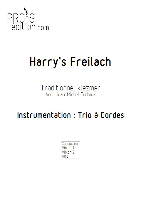 Harry's Freilach - Trio à Cordes - TRAD. KLEZMER - page de garde