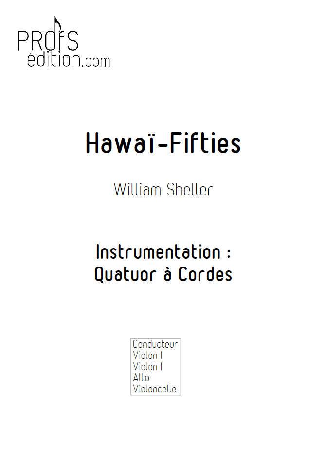 Hawaï Fifties - Quatuor à Cordes - SHELLER W. - page de garde