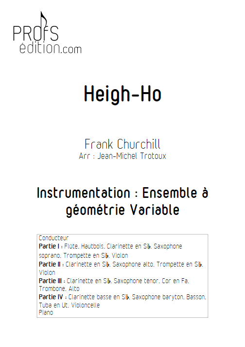 Heigh ho - Ensemble à Géométrie Variable - CHURCHILL F. - page de garde