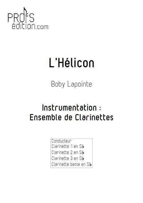 l'Hélicon - Ensemble de Clarinettes - LAPOINTE B. - page de garde
