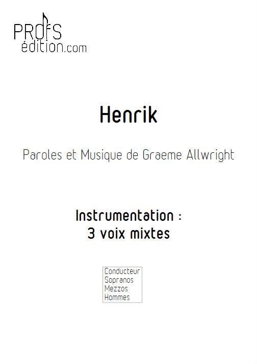 Henrik - Chœur 3 voix mixtes - ALLWRIGHT G. - page de garde