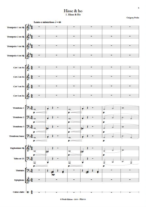 Hisse & Ho - Ensemble de Cuivres - FRELAT G. - app.scorescoreTitle