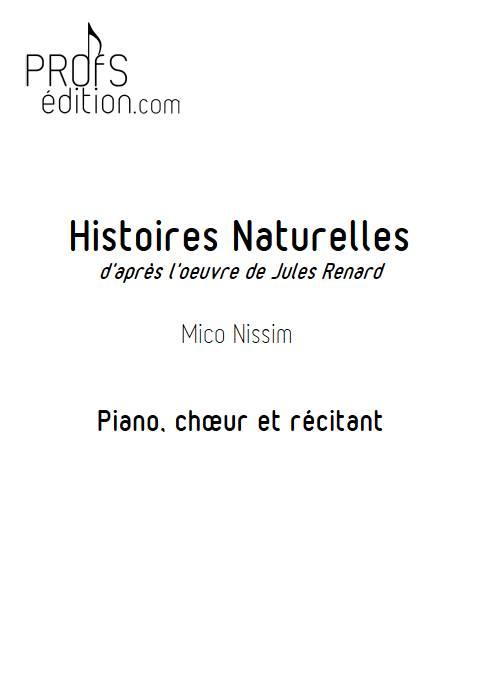 Histoires Naturelles - Chœur et Piano - NISSIM M. - page de garde