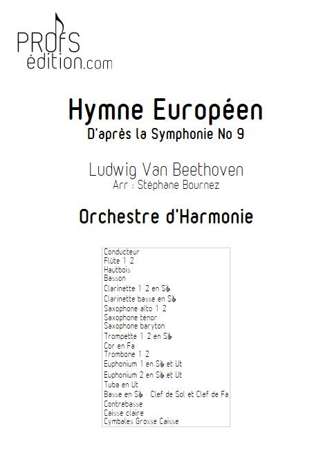 Hymne Européen - Orchestre d'Harmonie - BEETHOVEN L. V. - page de garde