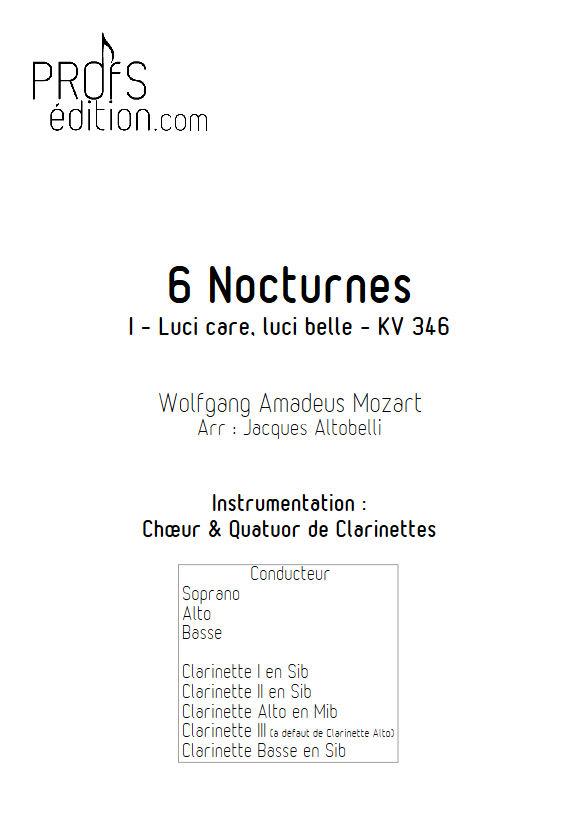 Luci care KV 346 - Chœur & Quatuor Clarinettes - MOZART W. A. - page de garde