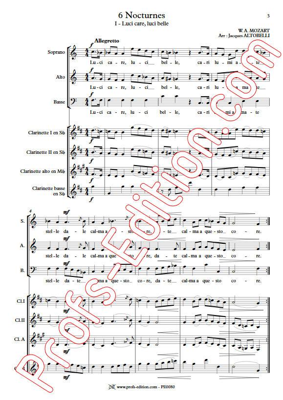 Luci care KV 346 - Chœur & Quatuor Clarinettes - MOZART W. A. - app.scorescoreTitle