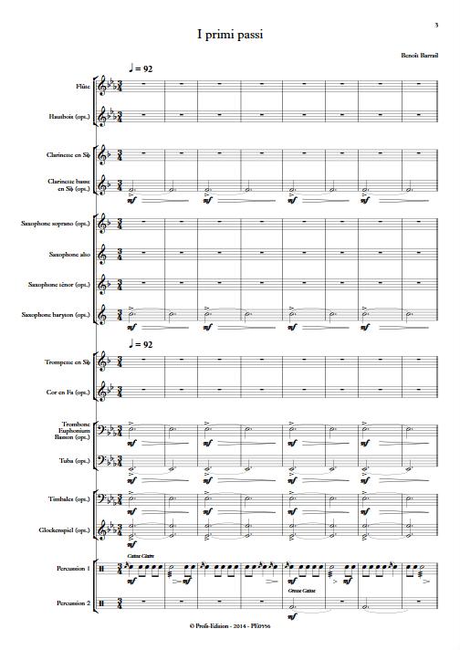 I Primi Passi - Orchestre d'Harmonie - BARRAIL B. - app.scorescoreTitle