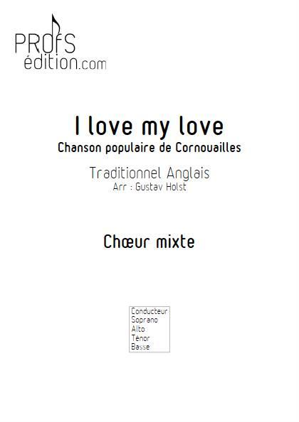 I love my love - Chœur mixte - TRADITIONNEL ANGLAIS - page de garde