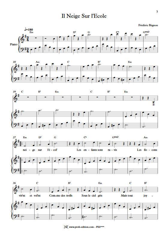5 Enfantines - Chant Eveil - BEGNON F. - page de garde