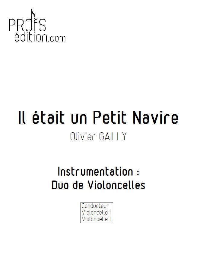 Il était un Petit Navire - Duo Violoncelles - TRADITIONNEL - page de garde