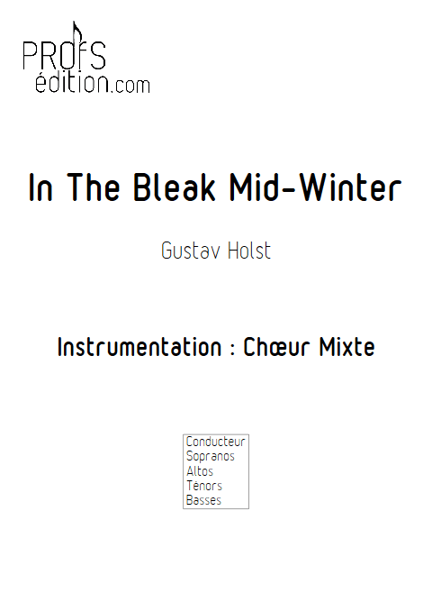In The Bleak Mid-Winter - Chœur Mixte - HOLST G. - page de garde