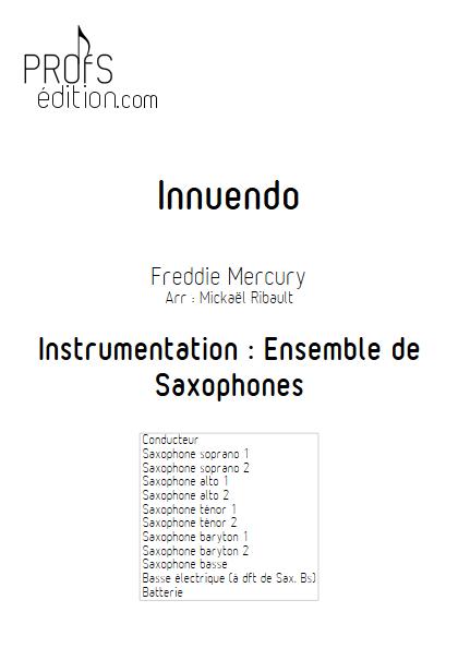 Innuendo - Ensemble de Saxophones - MERCURY F. - page de garde