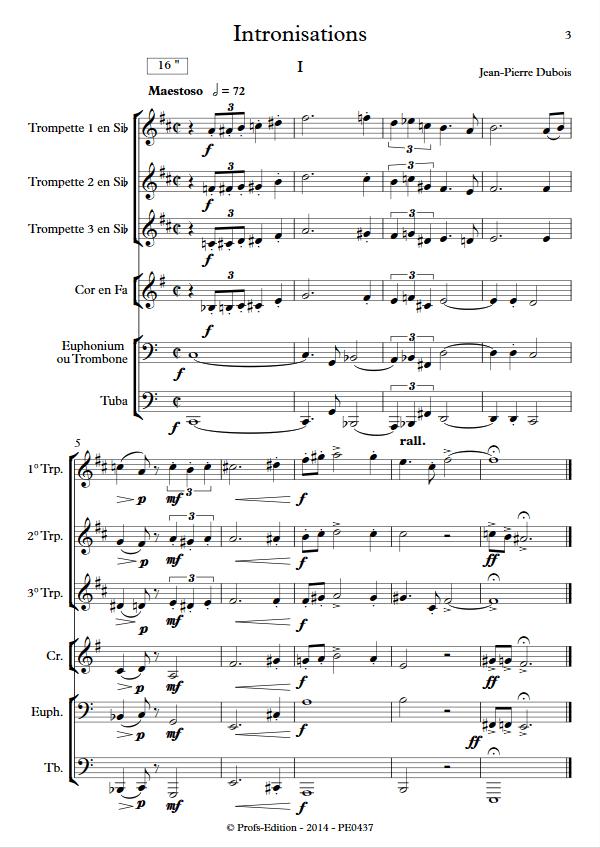 Intronisations - Sextuor de Cuivres - DUBOIS J-P - app.scorescoreTitle