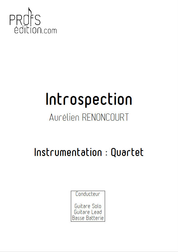 Introspection - Quartet Rock - RENONCOURT A. - page de garde