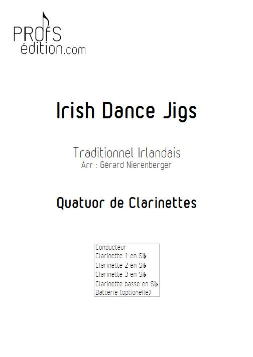 Irish Dance Jigs - Quatuor de Clarinettes - TRADITIONNEL IRLANDAIS - page de garde
