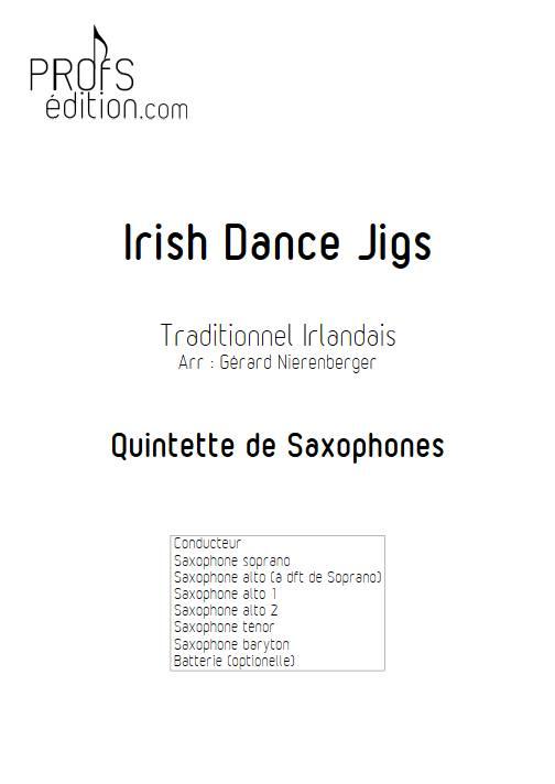 Irish Dance Jigs - Quintette de Saxophones - TRADITIONNEL IRLANDAIS - page de garde