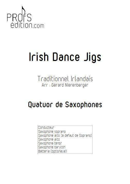 Irish Dance Jigs - Quatuor de Saxophones - TRADITIONNEL IRLANDAIS - page de garde