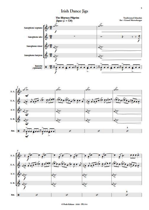 Irish Dance Jigs - Quatuor de Saxophones - TRADITIONNEL IRLANDAIS - app.scorescoreTitle