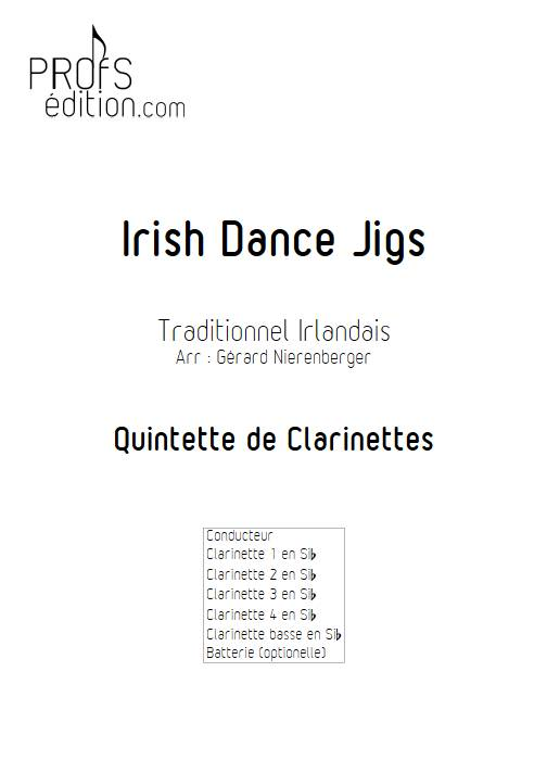 Irish Dance Jigs - Quintette de Clarinettes - TRADITIONNEL IRLANDAIS - page de garde