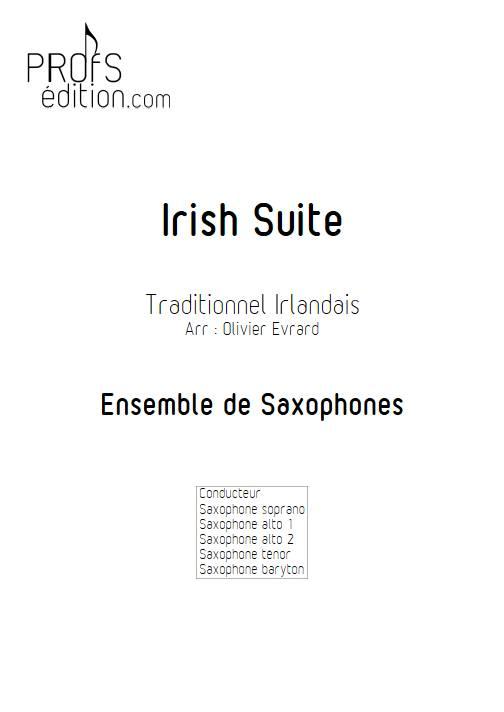Irish suite ensemble - Ensemble de Saxophones - TRADITIONNEL IRLANDAIS - page de garde